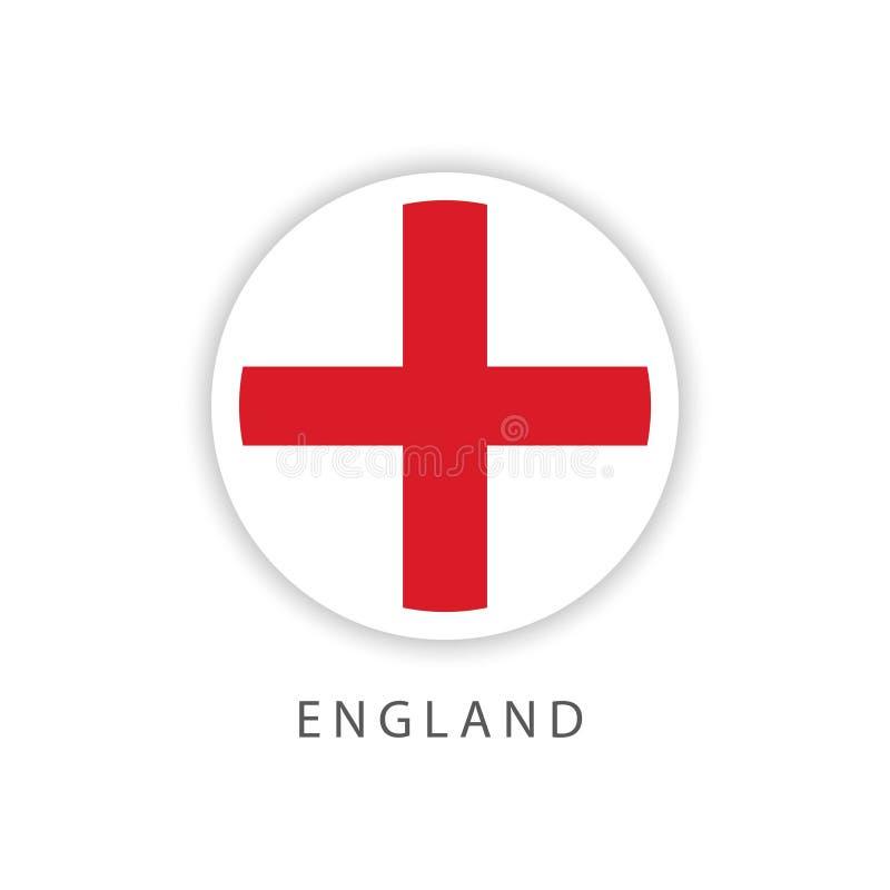 Ilustrador do projeto do molde do vetor da bandeira do botão de Inglaterra ilustração stock