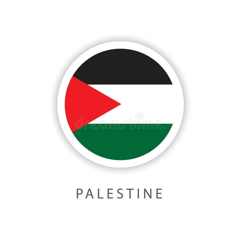 Ilustrador do projeto do molde do vetor da bandeira do botão de Palestina ilustração royalty free