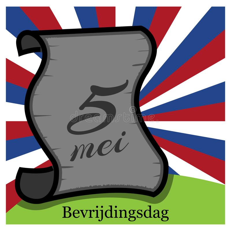 Vector illustration. background Netherlands national holiday of may 5. Bevrijdingsdag. designs for posters, backgrounds, cards, ba. Nners, stickers, etc stock illustration