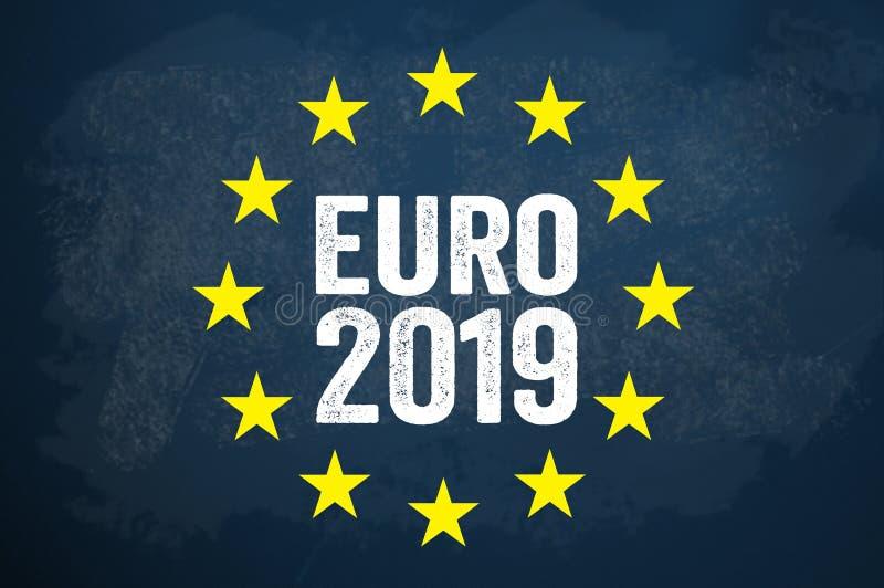 Ilustration με την ευρωπαϊκή εκλογή 2019 ελεύθερη απεικόνιση δικαιώματος
