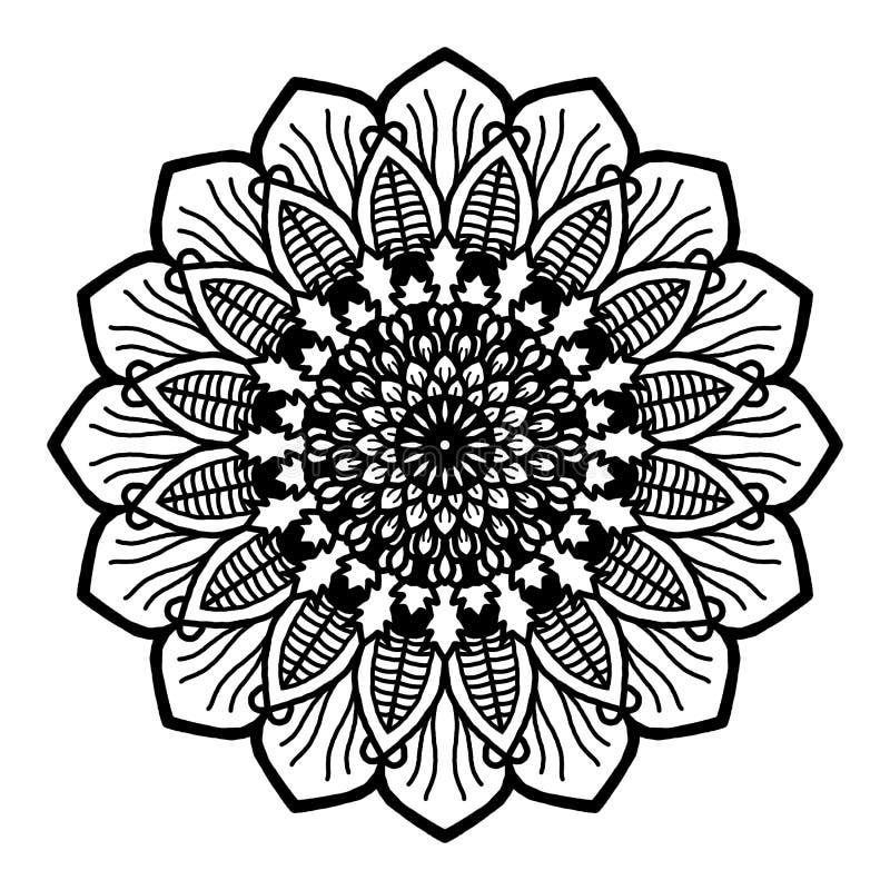 Ilustration, τέχνη εικόνων mandala, γραπτή διανυσματική απεικόνιση