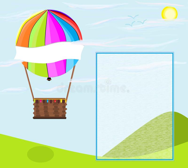Ilustration aérostatique de ballon illustration de vecteur