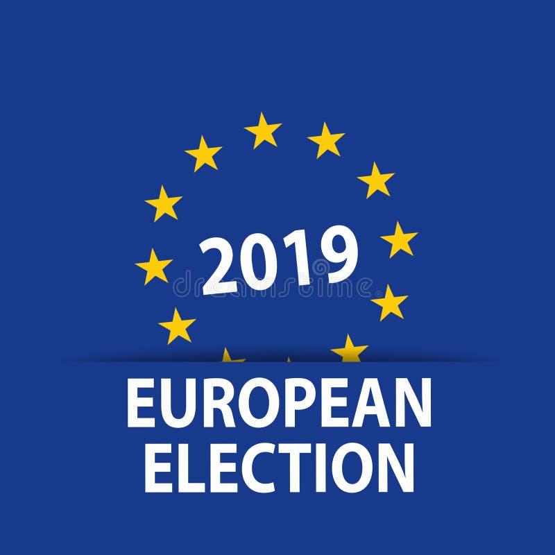 Ilustration con le elezioni europee 2019 illustrazione di stock
