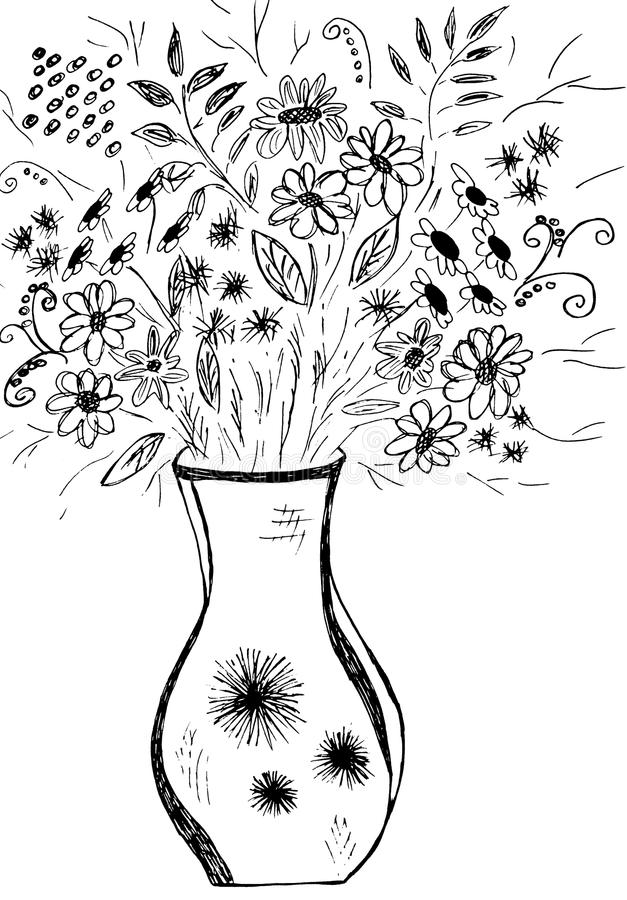 Ilustration de bouquet de fleur illustration stock