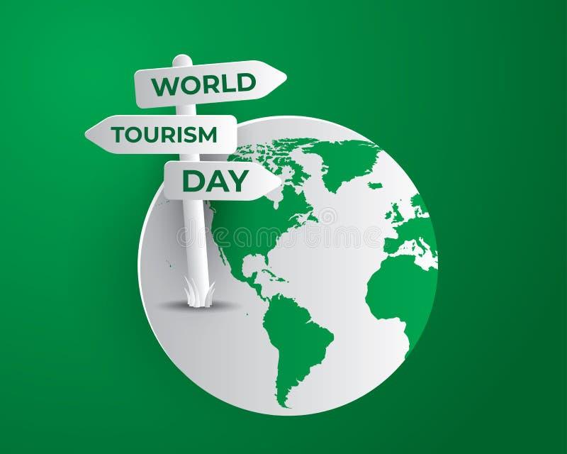 Ilustration del día del turismo del día de turismo de mundo ilustración del vector