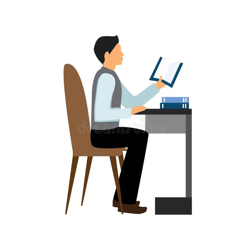 ilustration del vector del trabajador del hombre del carácter ilustración del vector