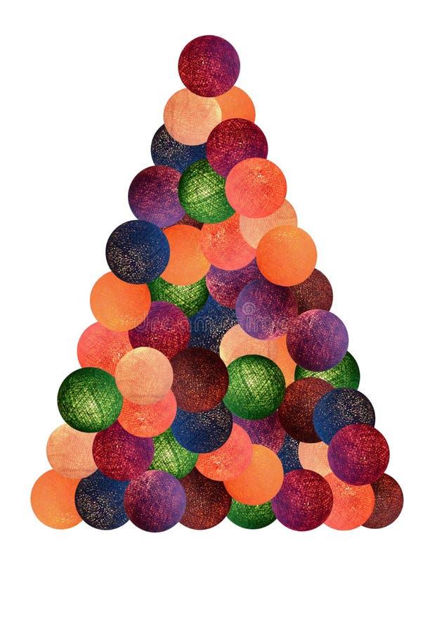 Ilustration dell'albero di Cristmas fotografia stock libera da diritti