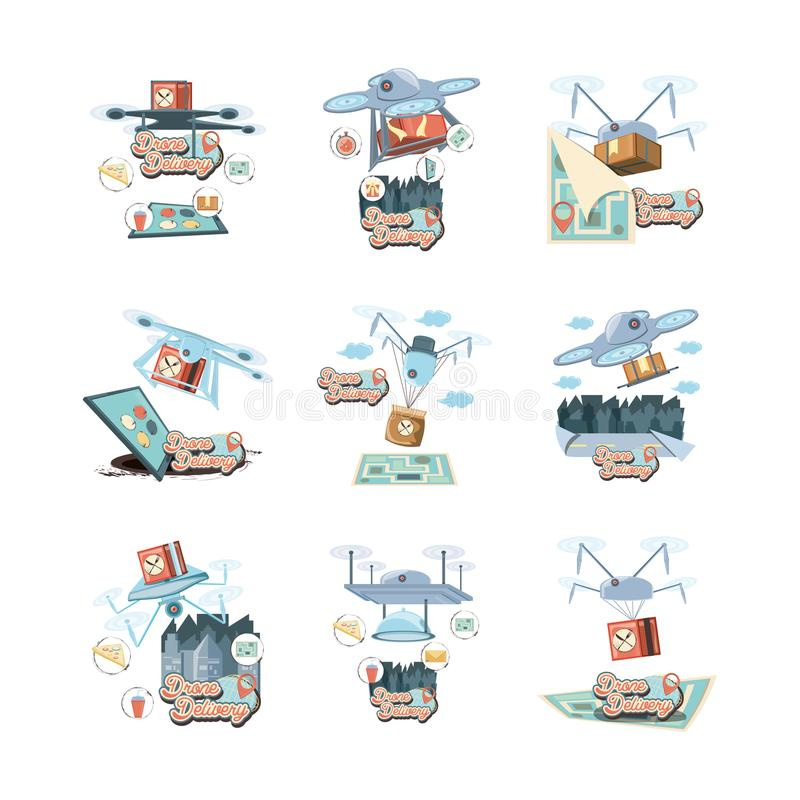 Ilustration determinado del vector del icono de los iconos del servicio del abejón stock de ilustración