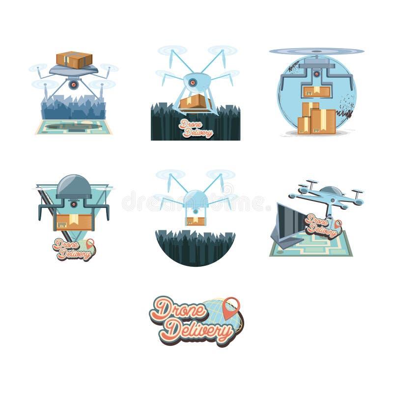 Ilustration determinado del vector del icono de los iconos del servicio del abejón ilustración del vector