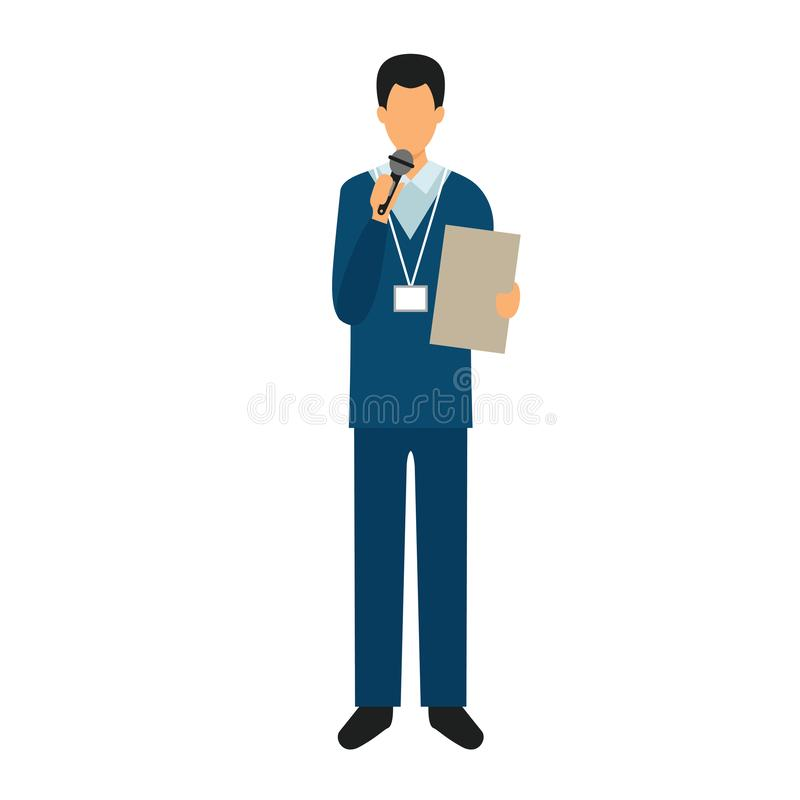 ilustration do vetor do trabalhador do homem do caráter ilustração do vetor