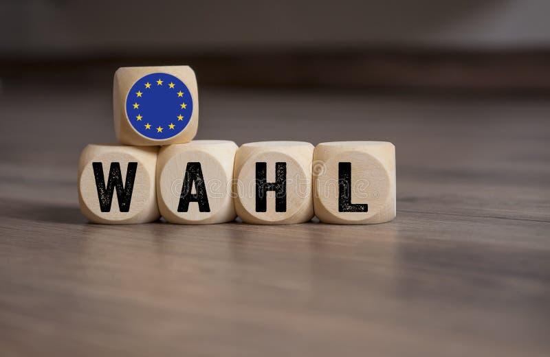 Ilustration mit Europawahl 2019 stockfotos