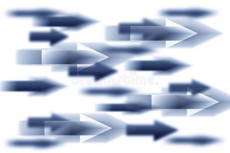 Ilustration mit Pfeilen lizenzfreie abbildung