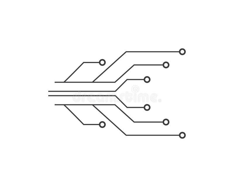 ilustration van de kringstechnologie royalty-vrije illustratie