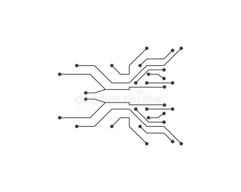 ilustration van de kringstechnologie vector illustratie
