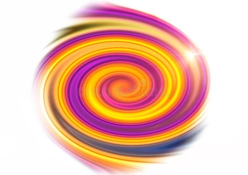 Ilustration van een abstracte spiraal van kleuren royalty-vrije stock afbeeldingen