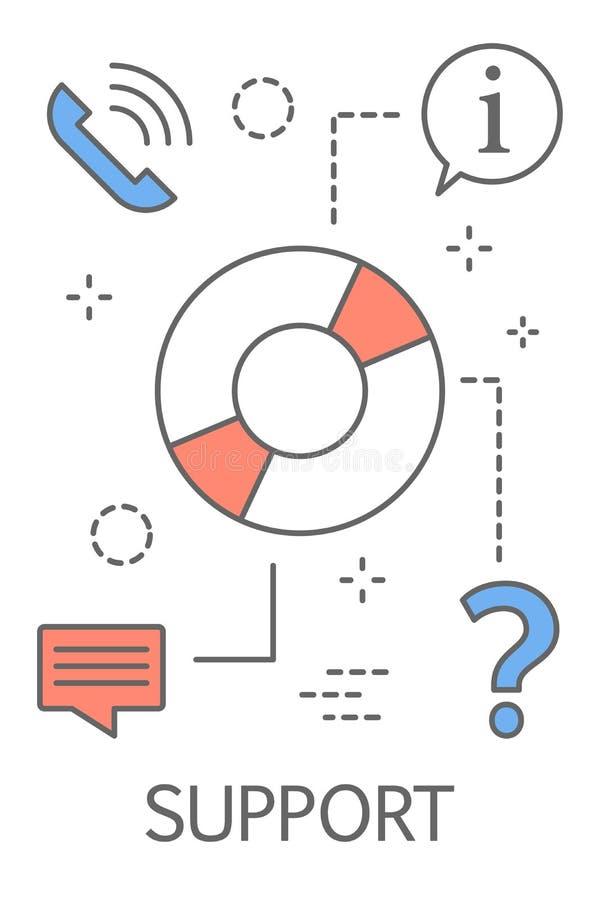 Ilustration van het technische ondersteuningconcept vector illustratie