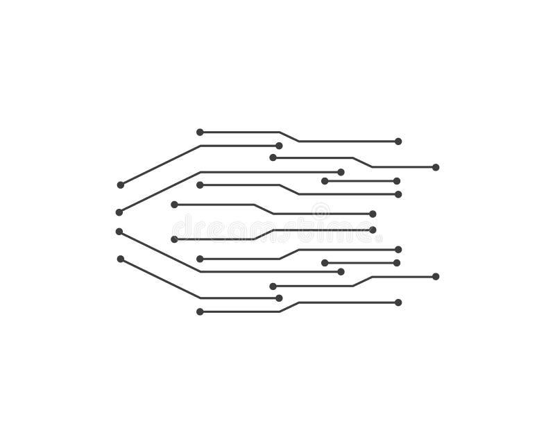 ilustrationvector van de kringstechnologie stock illustratie