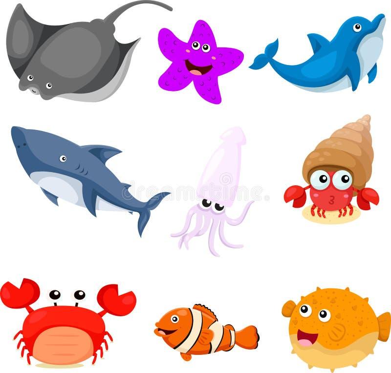 Ilustrator denni zwierzęta ustawiający ilustracji