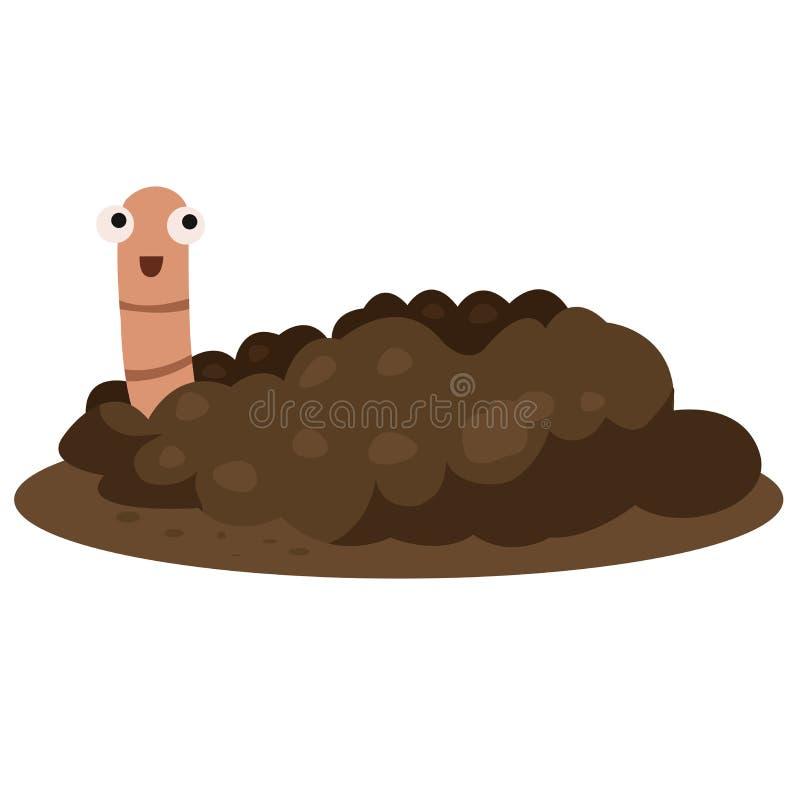 Ilustrator earthworm uśmiech royalty ilustracja