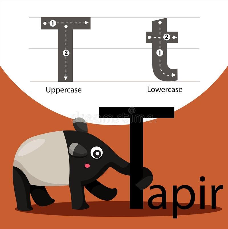 Ilustrator tapir z t chrzcielnicą ilustracji