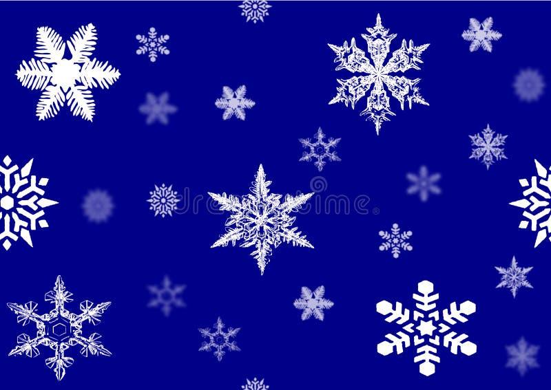 ilustratora wizerunku płatek śniegu royalty ilustracja