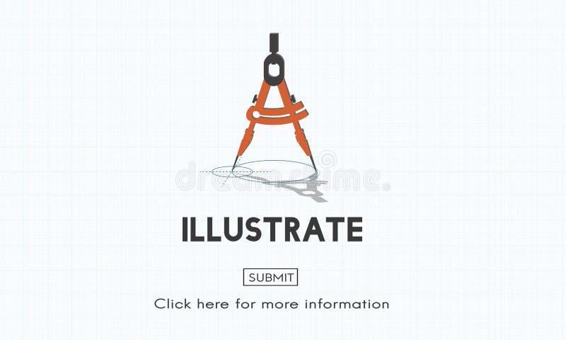 Ilustre criam o conceito artístico das ideias da imaginação ilustração stock