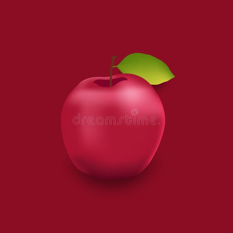 Ilustre a maçã do conceito na textura de papel Graphhics do vetor ilustração do vetor