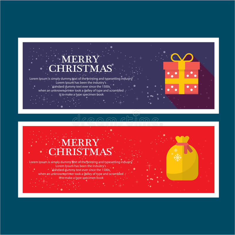 Ilustre o Natal para cumprimentar ilustração do vetor