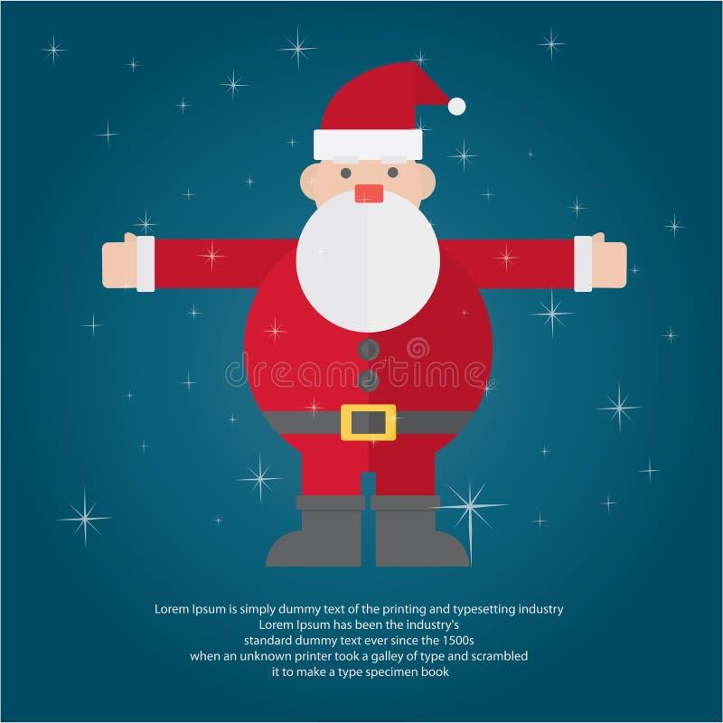 Ilustre o Natal para cumprimentar ilustração royalty free