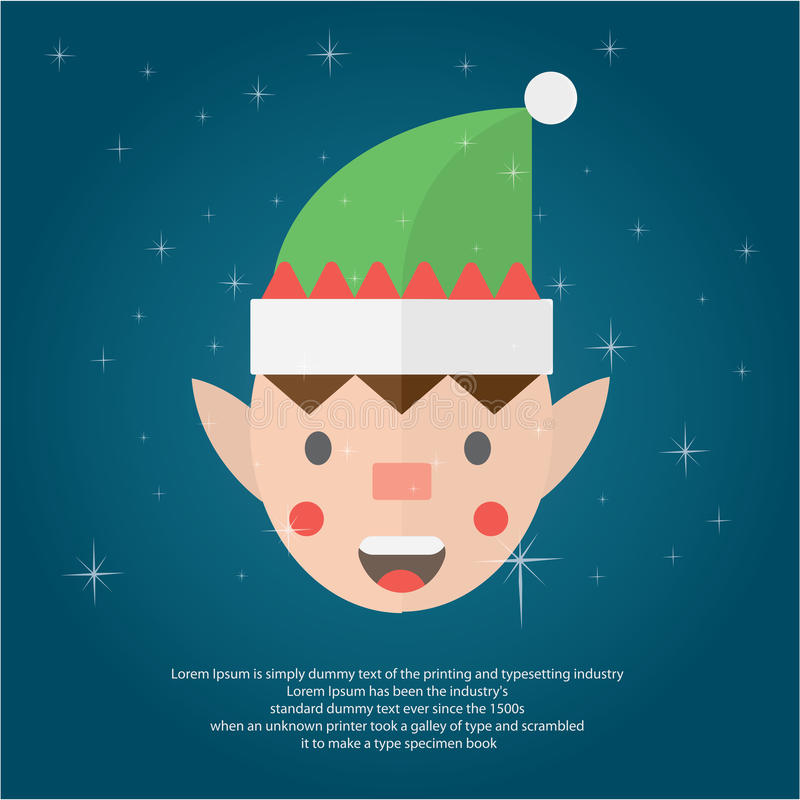 Ilustre o Natal para cumprimentar ilustração stock