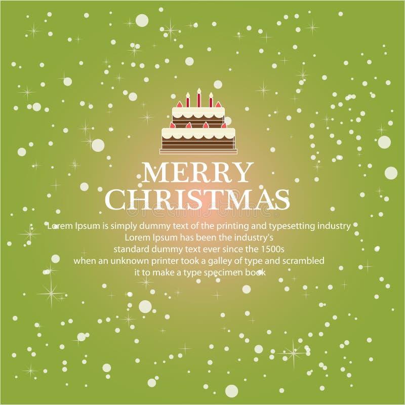 Ilustre o Natal para o fundo de cumprimento ilustração stock