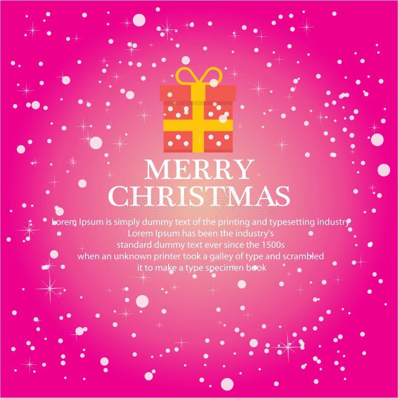 Ilustre o Natal para o fundo de cumprimento ilustração royalty free