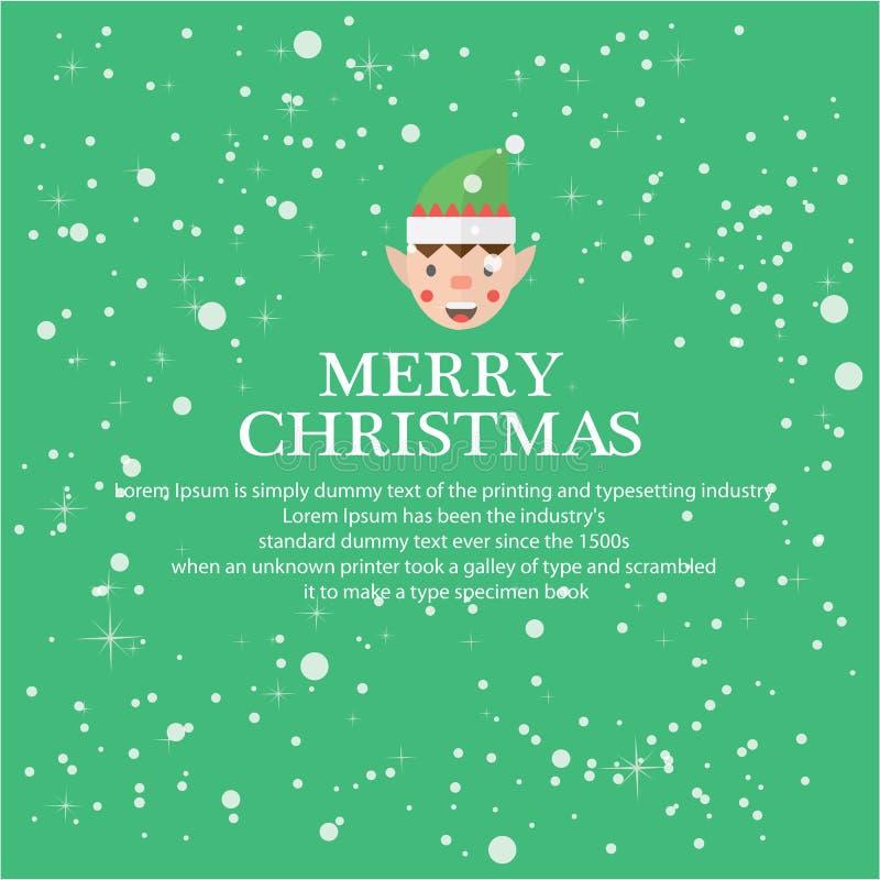 Ilustre o Natal para o fundo de cumprimento ilustração do vetor