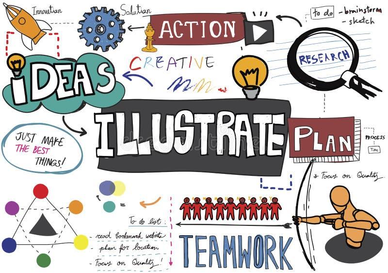 Ilustre o projeto Art Concept abstrato criativo da ilustração ilustração do vetor