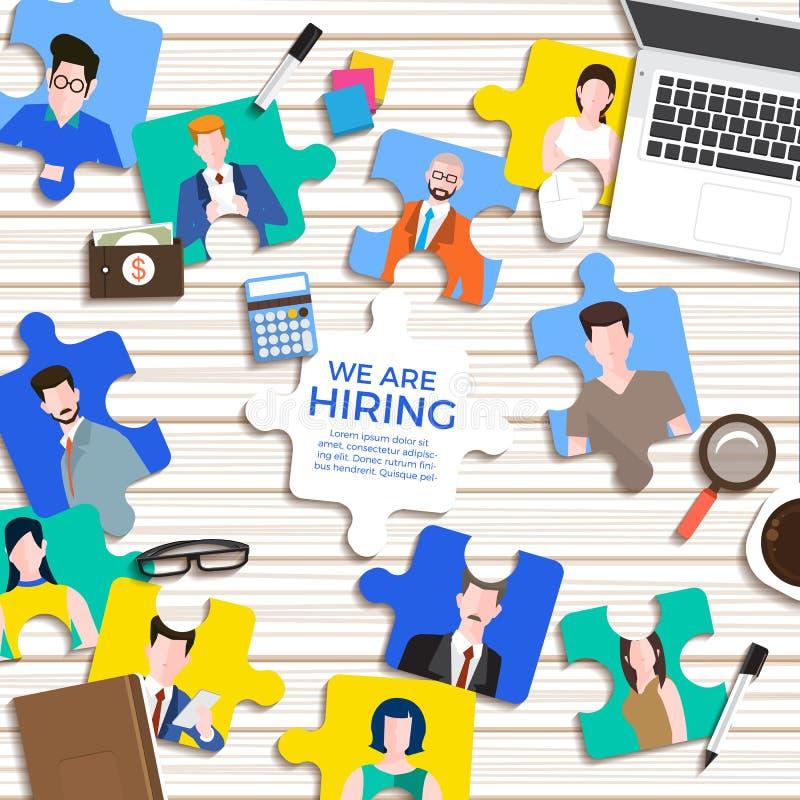 Ilustruje projekta pojęcie znalezienie pracownik HR pracy szukać Wektor Ilustruje ilustracji