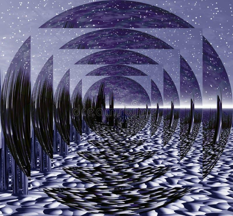 iluzja przestrzeni ilustracja wektor
