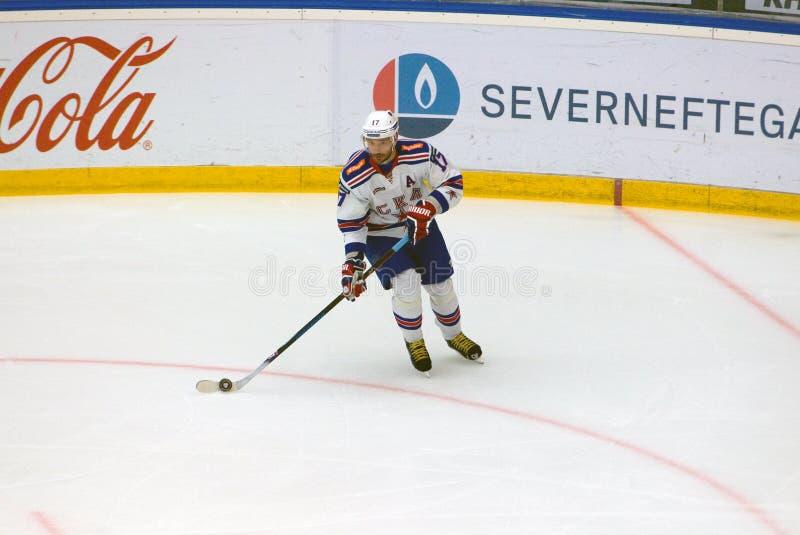 Ilya Kovalchuk 17 στη δράση στοκ φωτογραφία με δικαίωμα ελεύθερης χρήσης