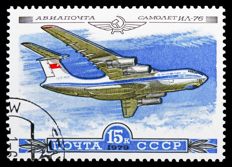 Ilyushin Il-76, история русского serie воздушных судн, около 1979 стоковое изображение