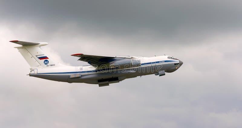 Ilyushin IL-76MD русской военновоздушной силы стоковое изображение
