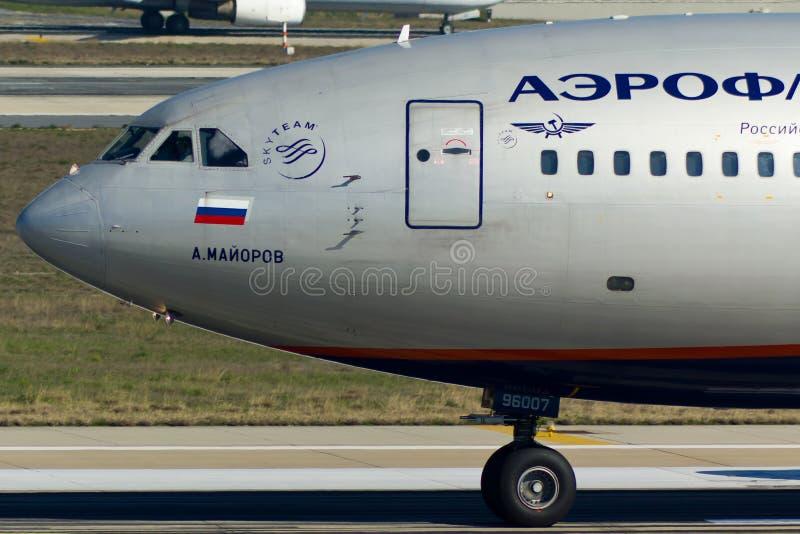 Ilyushin Il-96 samolotu nos obraz royalty free