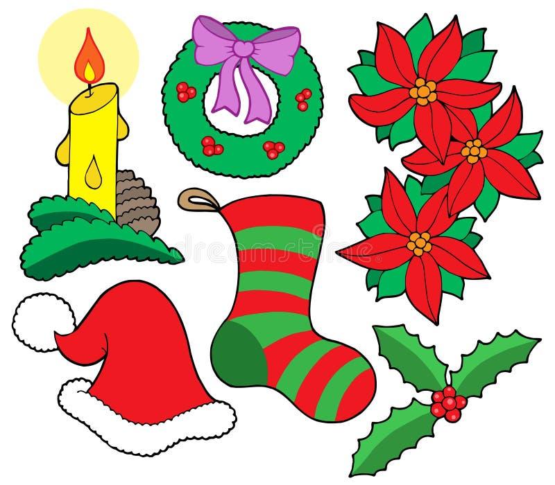 Imágenes aisladas de la Navidad ilustración del vector