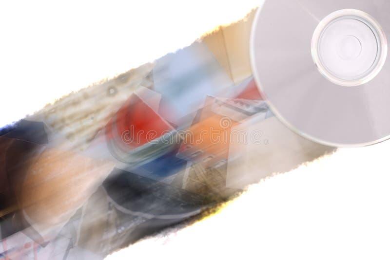 Imágenes ardientes en CD fotografía de archivo