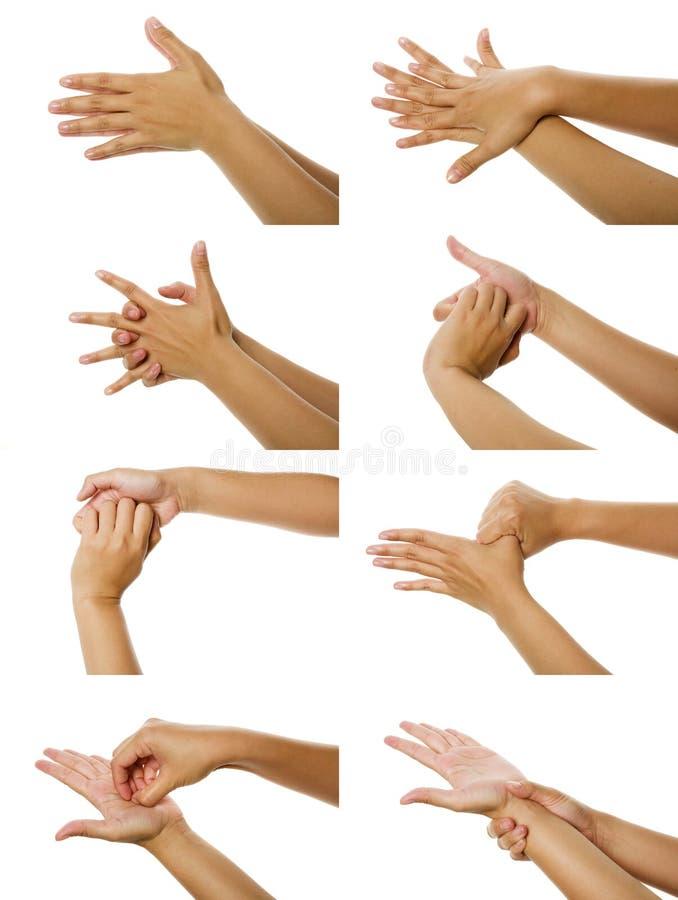 Imágenes cómo lavar la mano foto de archivo libre de regalías