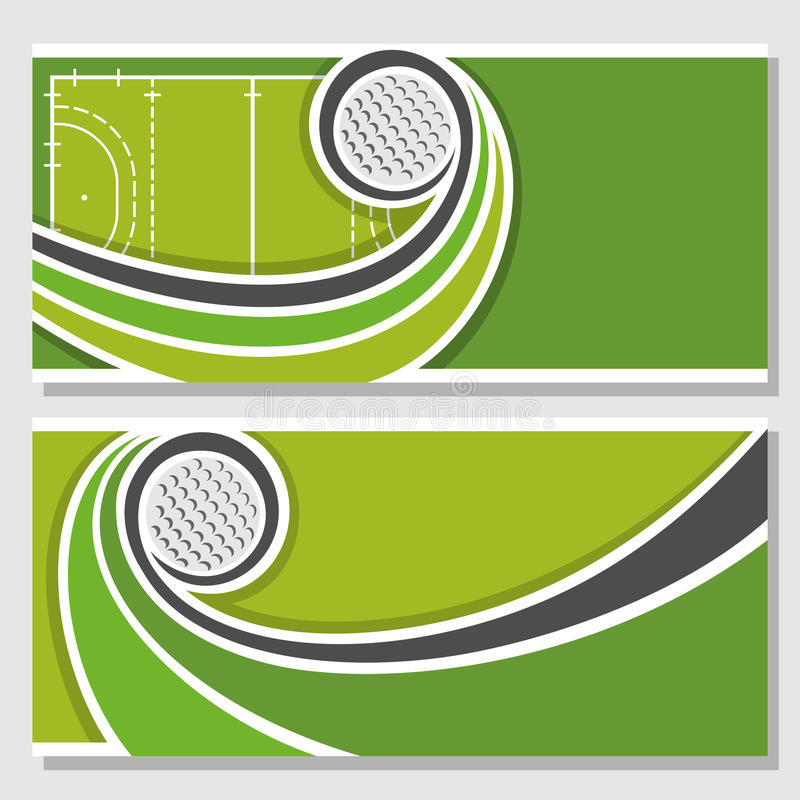 Imágenes de fondo para el texto en el tema del hockey hierba stock de ilustración