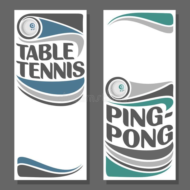 Imágenes de fondo para el texto a propósito de tenis de mesa ilustración del vector