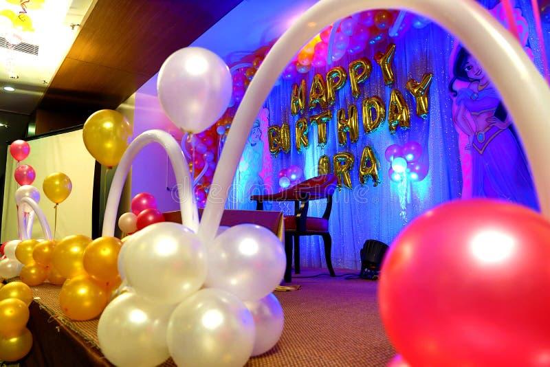 Imágenes de HD para la decoración para el globo de la fiesta de cumpleaños fotos de archivo libres de regalías