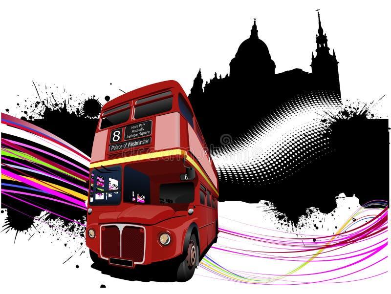 Imágenes de Londres del Grunge con el doble ilustración del vector
