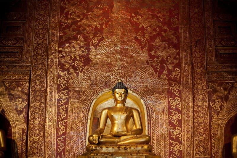 Imágenes de oro de Buddhas foto de archivo libre de regalías