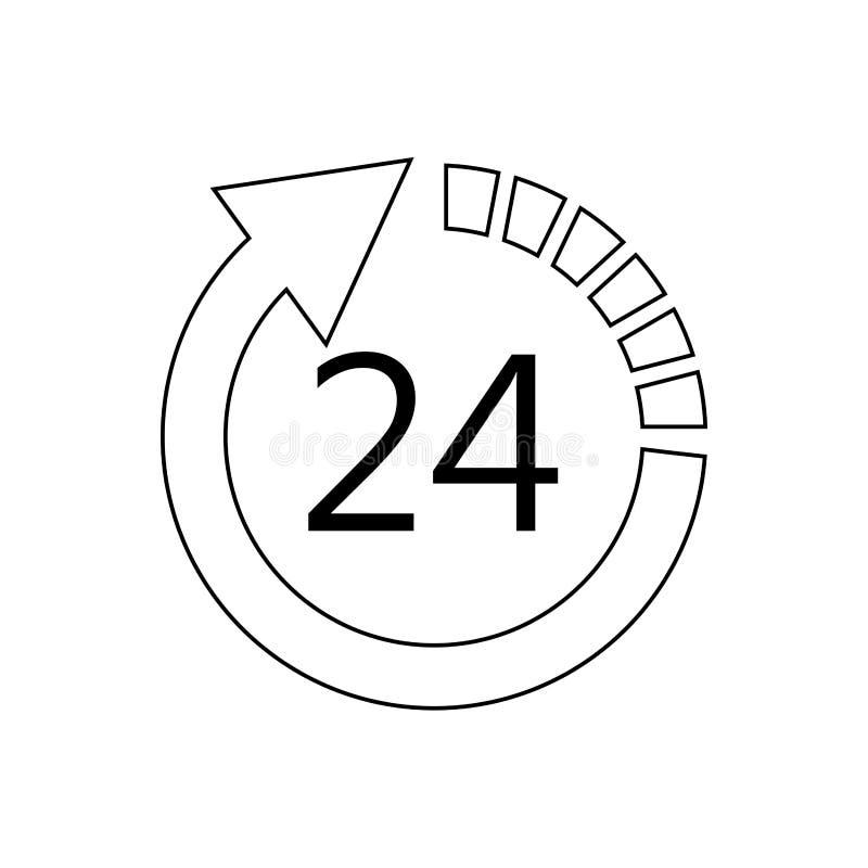 24 imágenes del icono de 7 servicios stock de ilustración