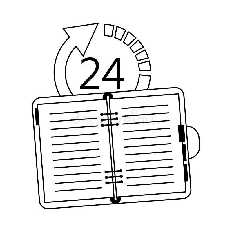24 imágenes del icono de 7 servicios ilustración del vector